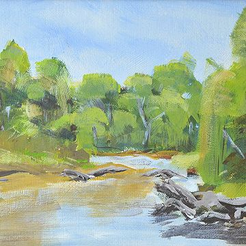 #Tranquil River  by Denis Bradley