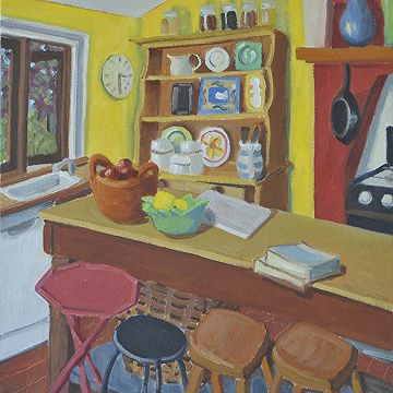 #Yellow Kitchen  by Catherine Hale