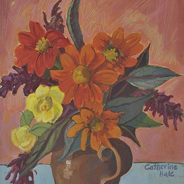 #Dahlias and Roses  by Catherine Hale