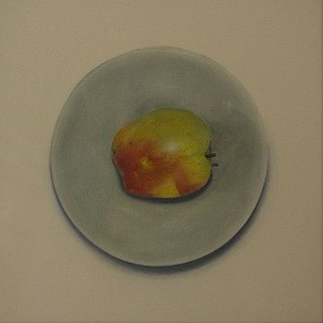 #Apple in green bowl  by Lynn Winters