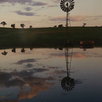 #Windmill Reflection  by Janelle Bowler