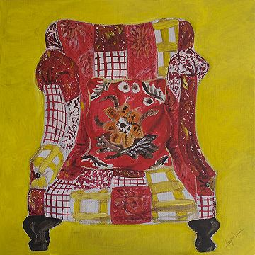 #Red patchwork chair  by Josephine Jagger-Manners